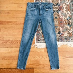 A Gold E Sophie high rise blue wash skinny jeans